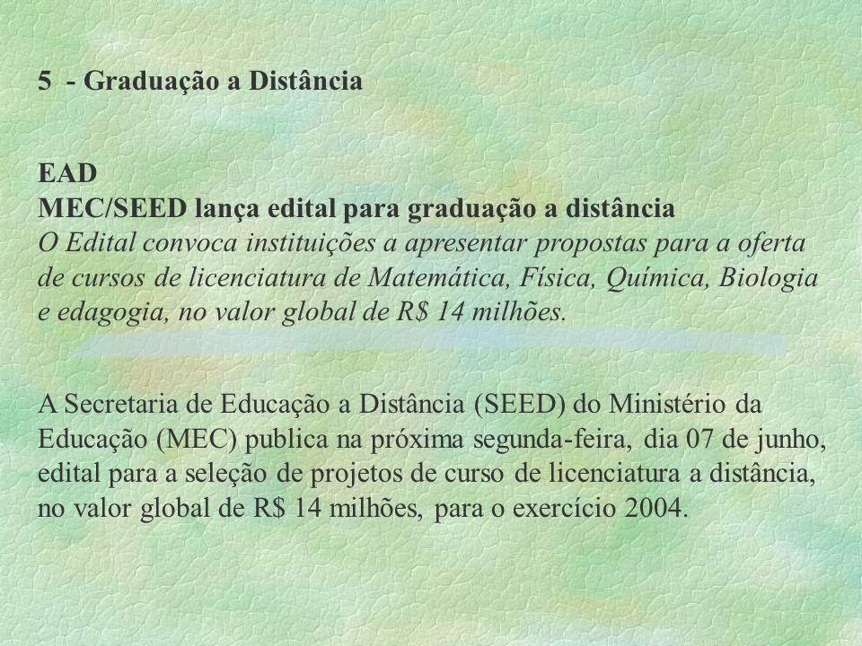 5 - Graduação a Distância