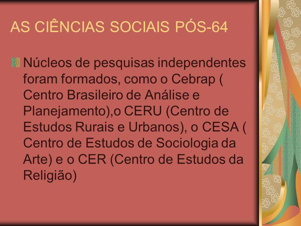 AS CIÊNCIAS SOCIAIS PÓS-64
