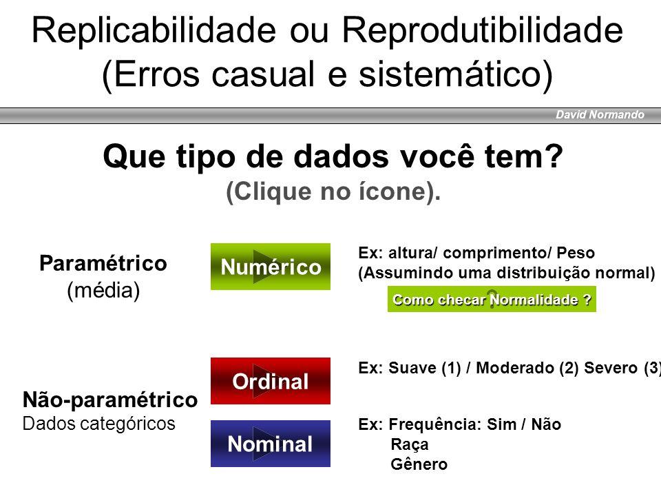 Replicabilidade ou Reprodutibilidade (Erros casual e sistemático)