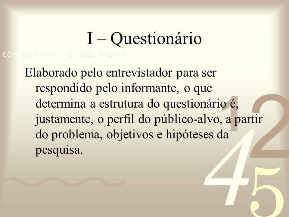I – Questionário