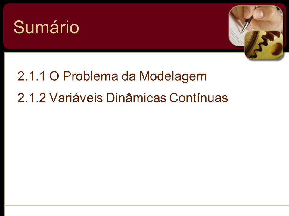 Sumário 2.1.1 O Problema da Modelagem