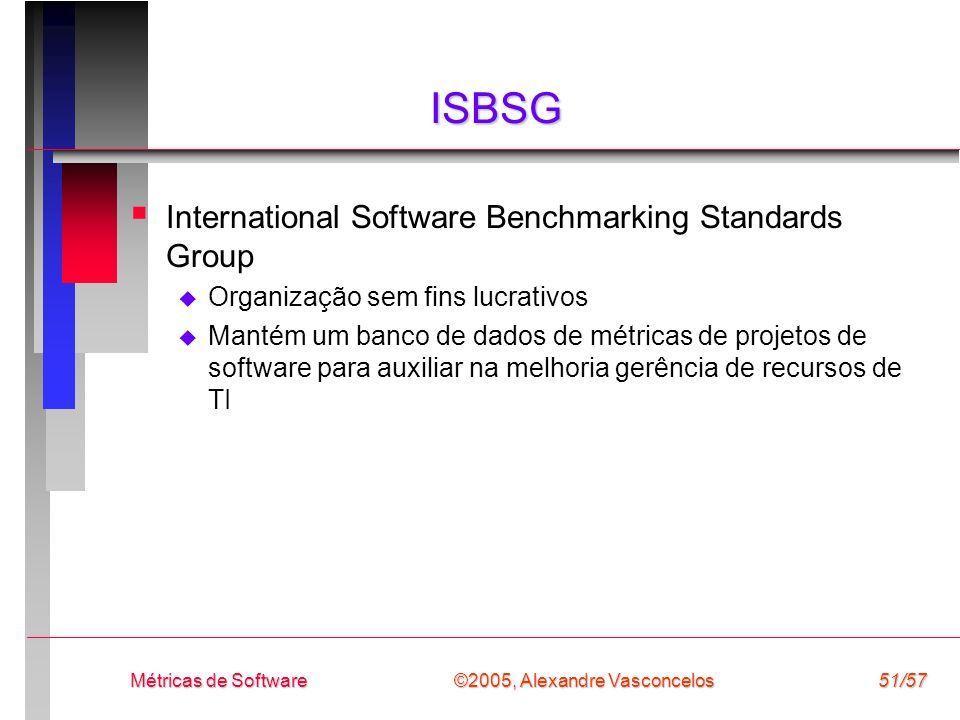 ISBSG International Software Benchmarking Standards Group