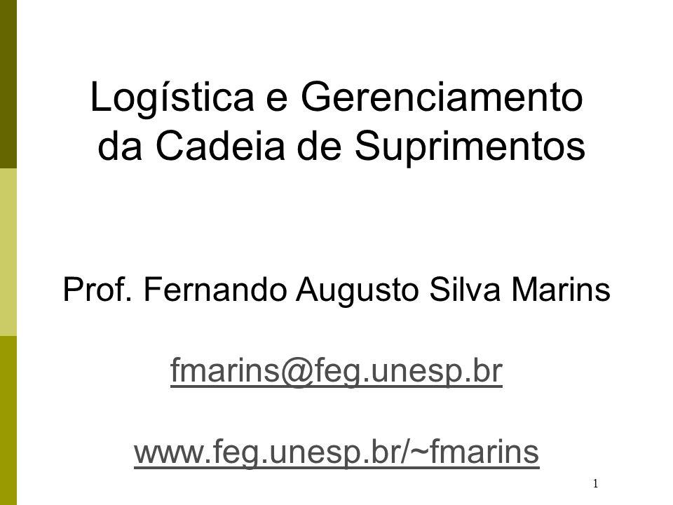 Logística e Gerenciamento da Cadeia de Suprimentos Prof