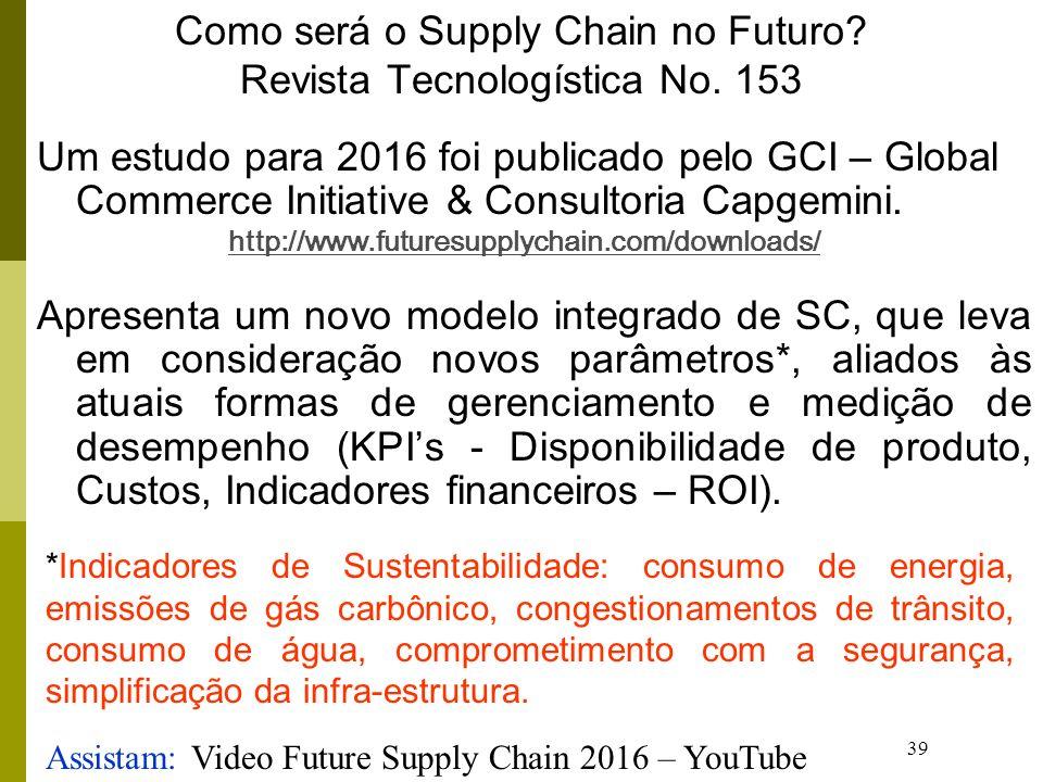 Como será o Supply Chain no Futuro Revista Tecnologística No. 153