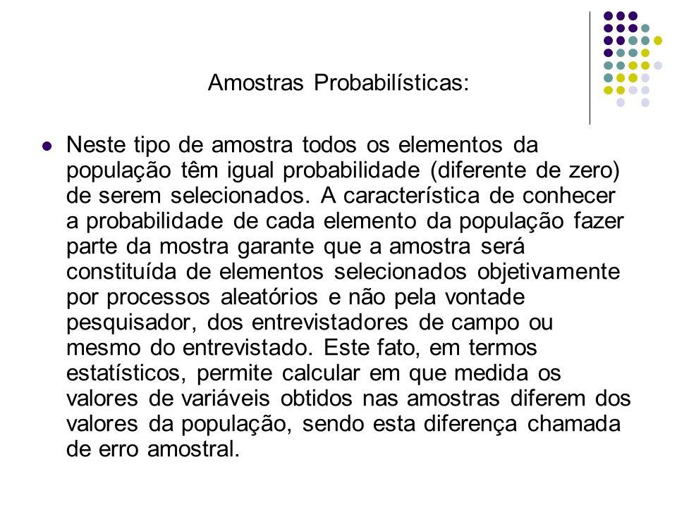 Amostras Probabilísticas: