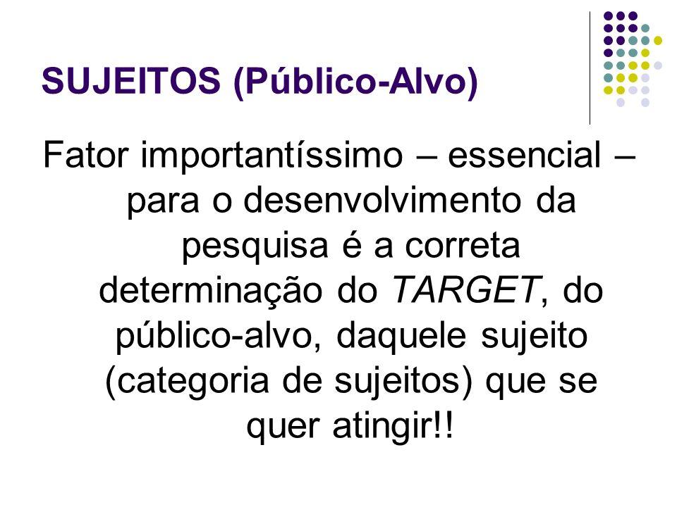 SUJEITOS (Público-Alvo)