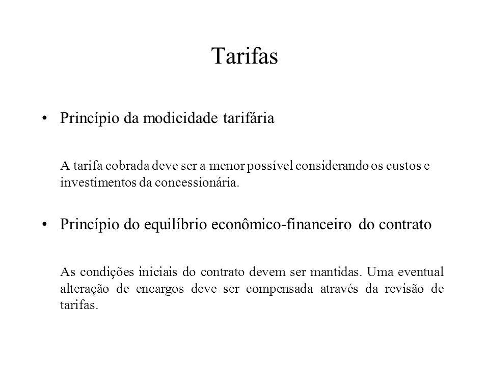 Tarifas Princípio da modicidade tarifária