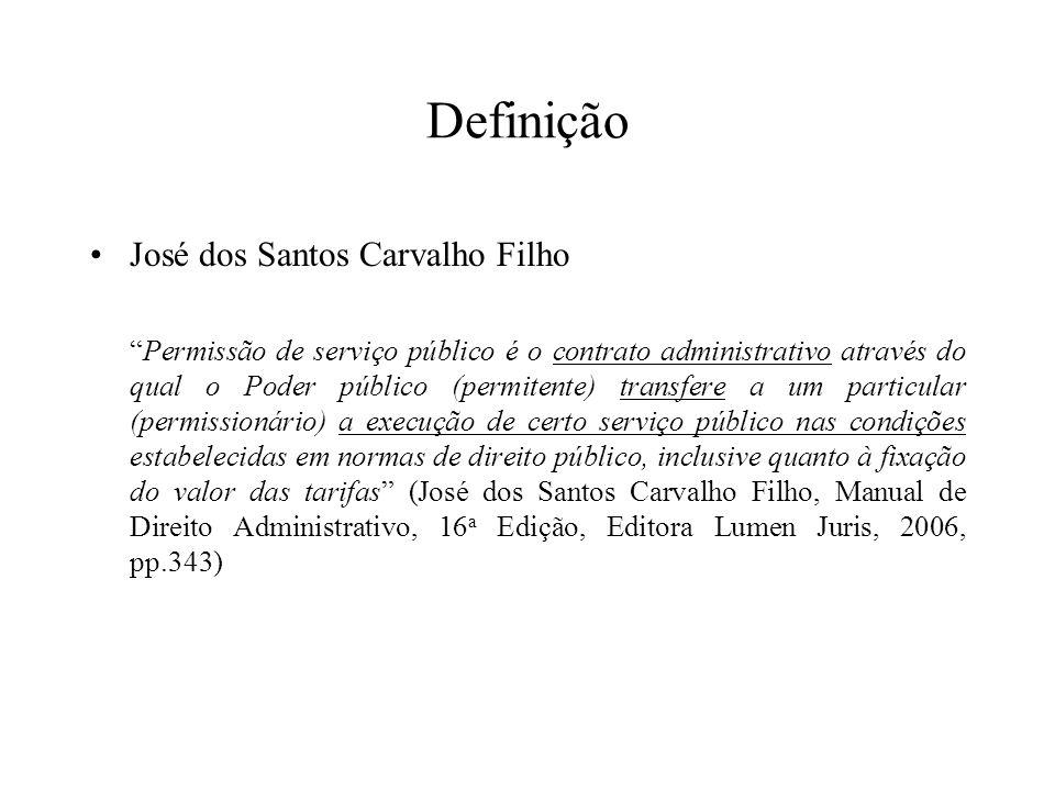 Definição José dos Santos Carvalho Filho