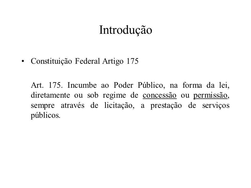 Introdução Constituição Federal Artigo 175
