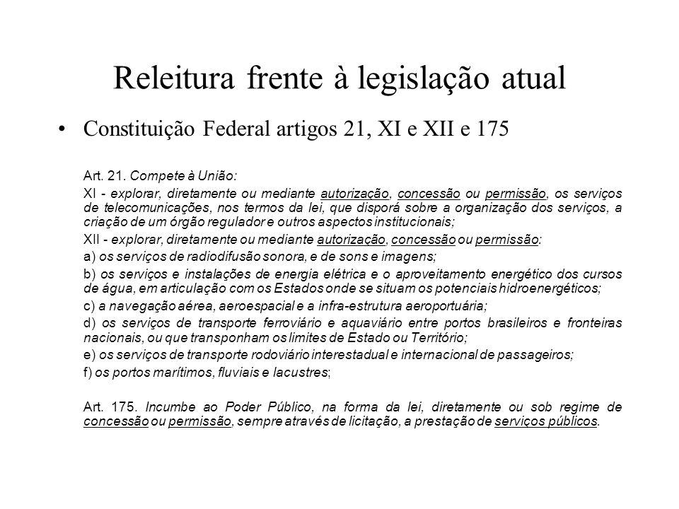 Releitura frente à legislação atual
