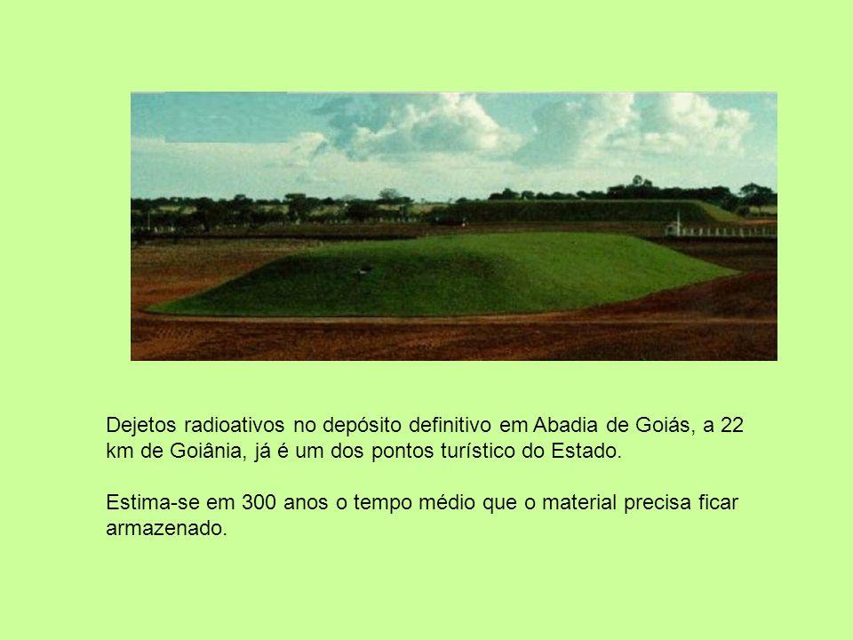 Dejetos radioativos no depósito definitivo em Abadia de Goiás, a 22 km de Goiânia, já é um dos pontos turístico do Estado.