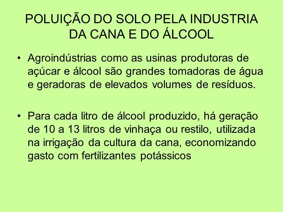 POLUIÇÃO DO SOLO PELA INDUSTRIA DA CANA E DO ÁLCOOL