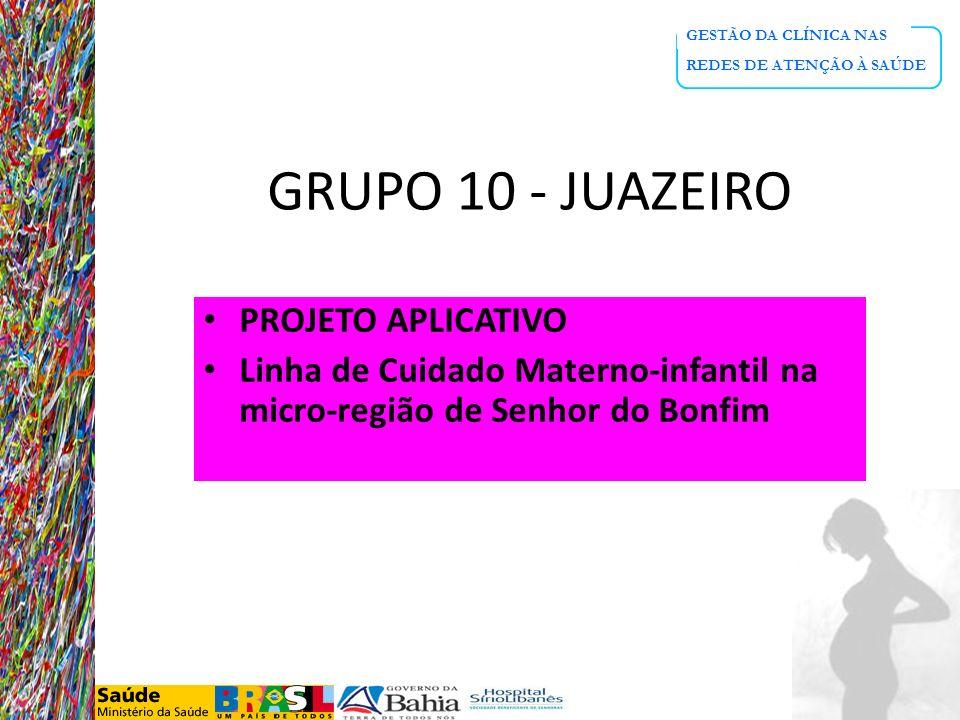 GRUPO 10 - JUAZEIRO PROJETO APLICATIVO
