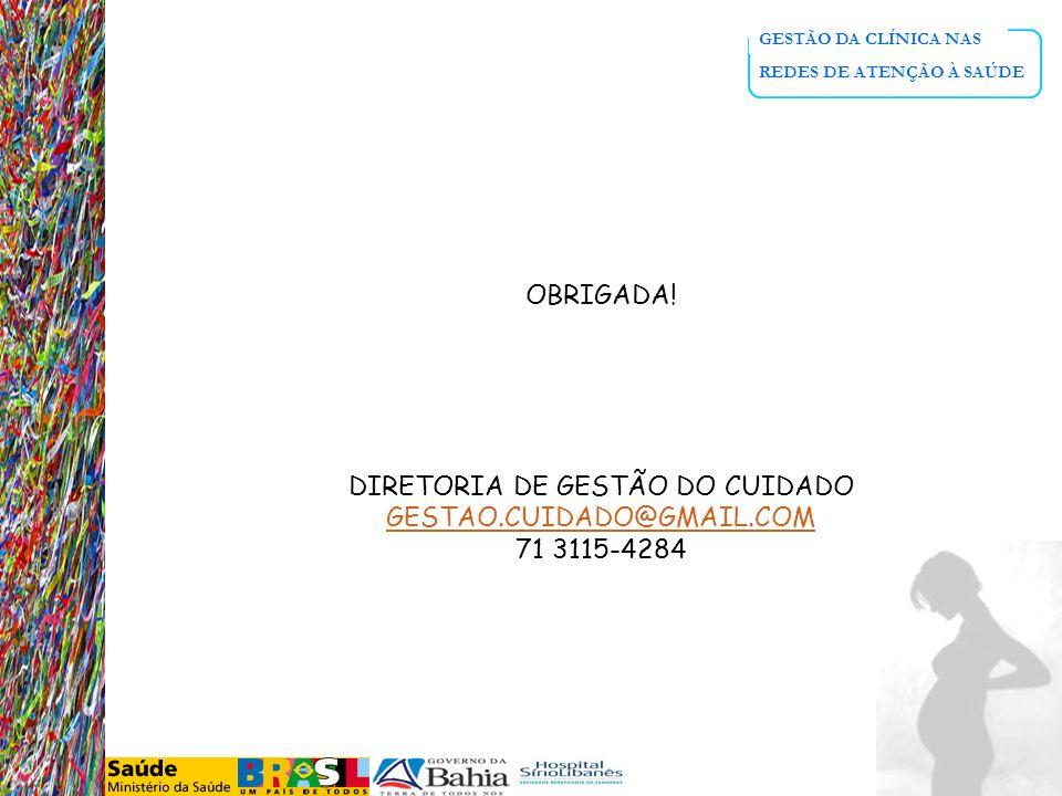 DIRETORIA DE GESTÃO DO CUIDADO