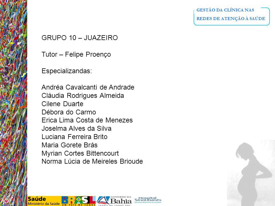 Andréa Cavalcanti de Andrade Cláudia Rodrigues Almeida Cilene Duarte