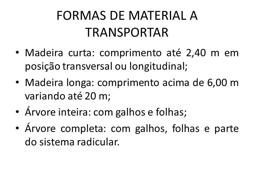 FORMAS DE MATERIAL A TRANSPORTAR