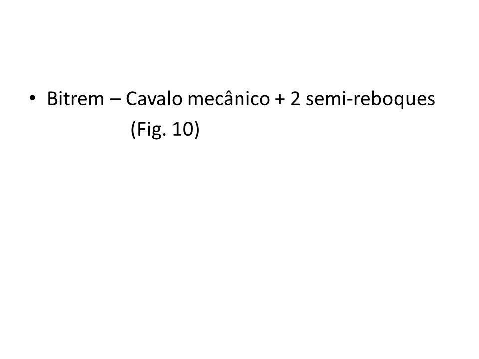 Bitrem – Cavalo mecânico + 2 semi-reboques