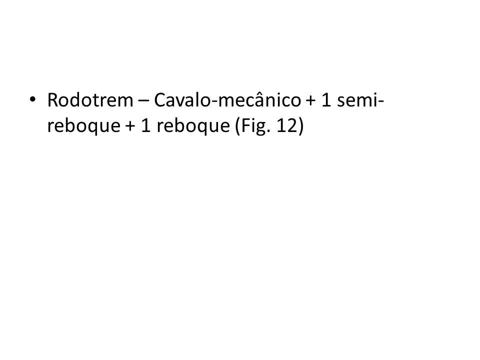 Rodotrem – Cavalo-mecânico + 1 semi-reboque + 1 reboque (Fig. 12)
