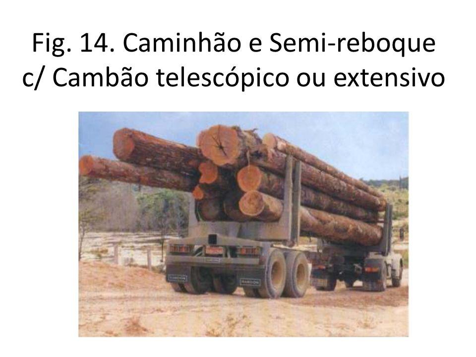 Fig. 14. Caminhão e Semi-reboque c/ Cambão telescópico ou extensivo