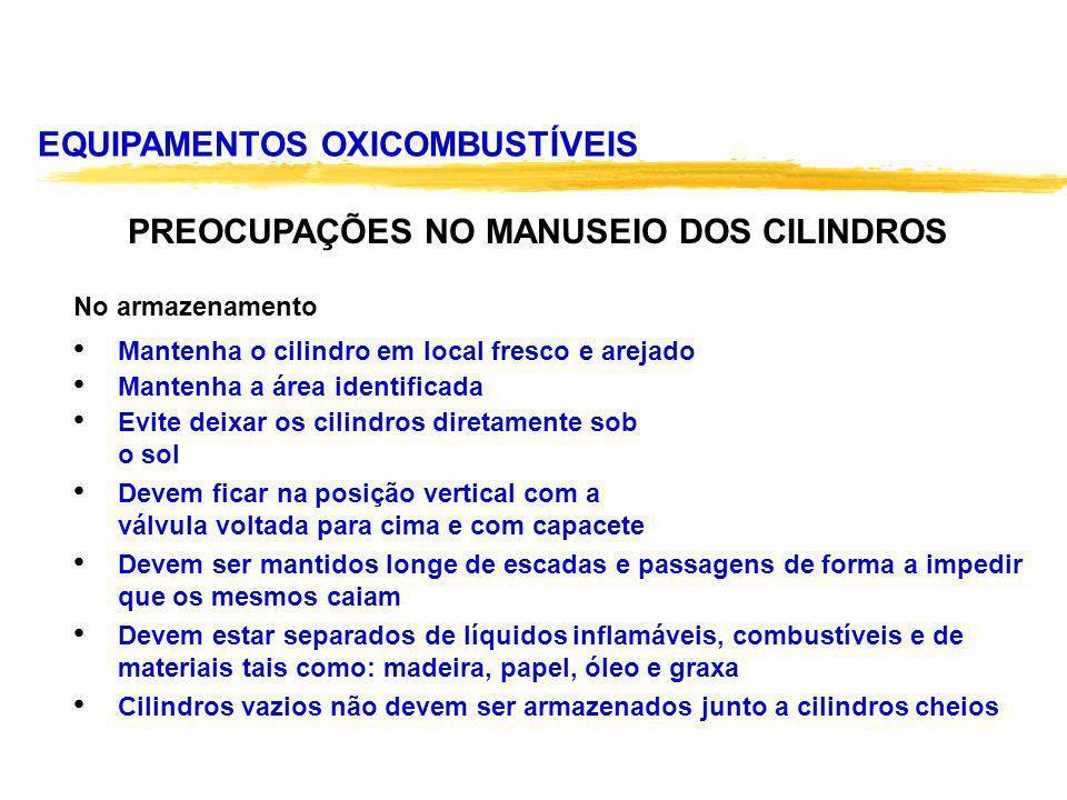 PREOCUPAÇÕES NO MANUSEIO DOS CILINDROS