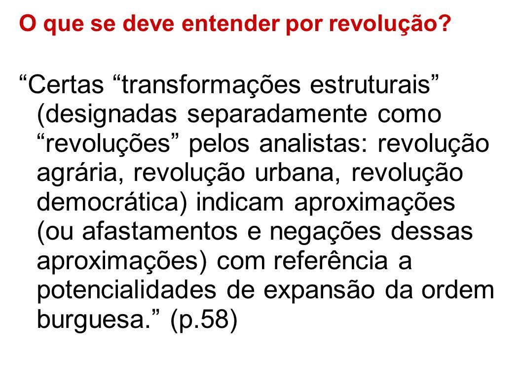 O que se deve entender por revolução