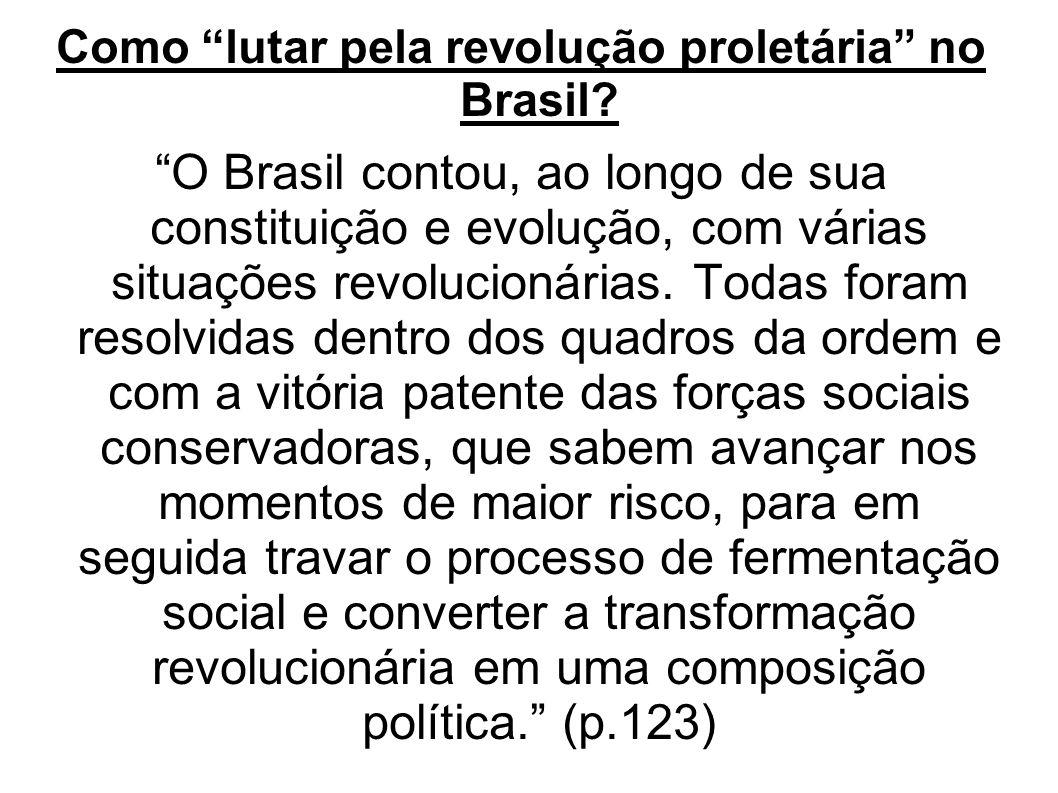 Como lutar pela revolução proletária no Brasil