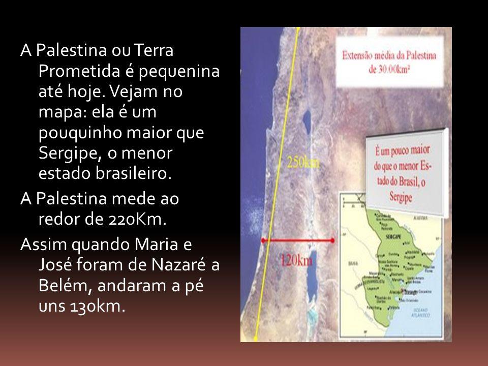 A Palestina ou Terra Prometida é pequenina até hoje