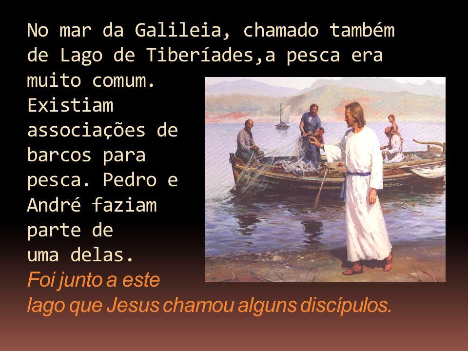 No mar da Galileia, chamado também de Lago de Tiberíades,a pesca era muito comum.