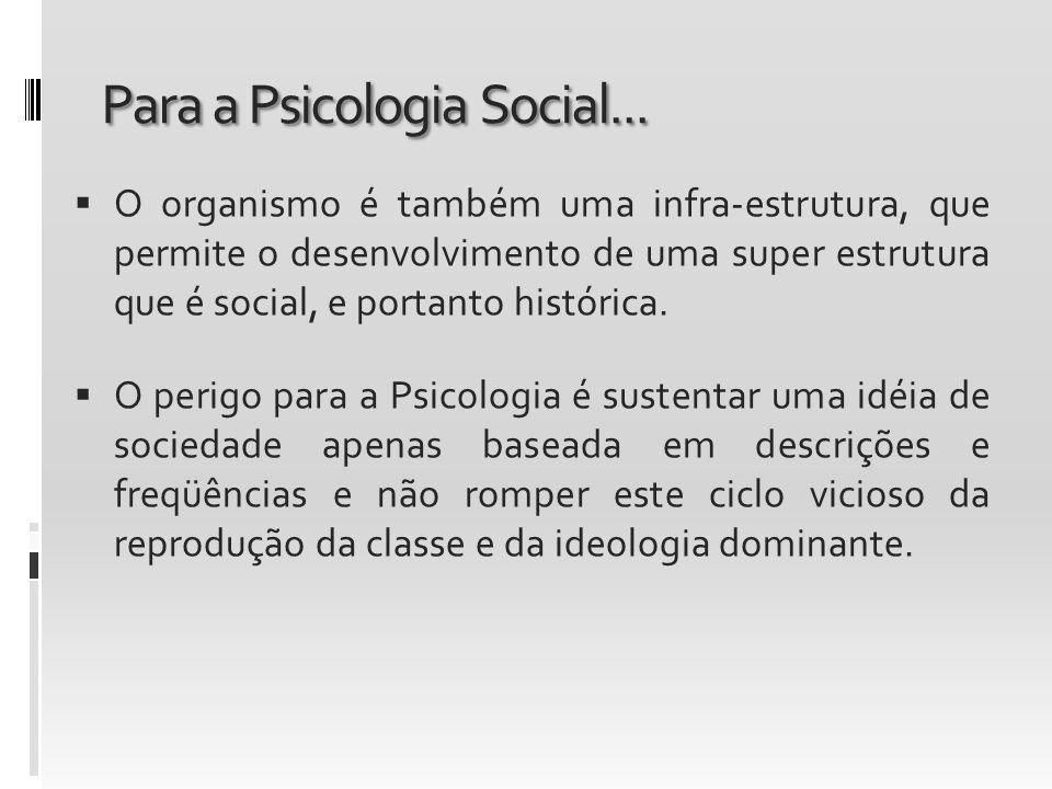 Para a Psicologia Social...