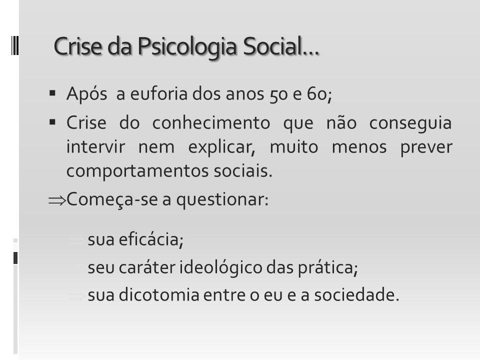 Crise da Psicologia Social...