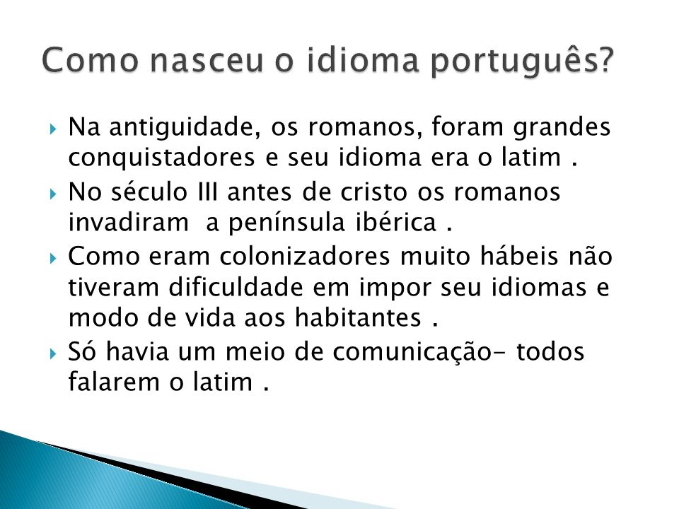 Como nasceu o idioma português