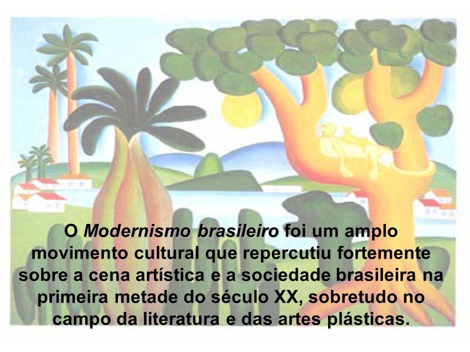O Modernismo brasileiro foi um amplo movimento cultural que repercutiu fortemente sobre a cena artística e a sociedade brasileira na primeira metade do século XX, sobretudo no campo da literatura e das artes plásticas.