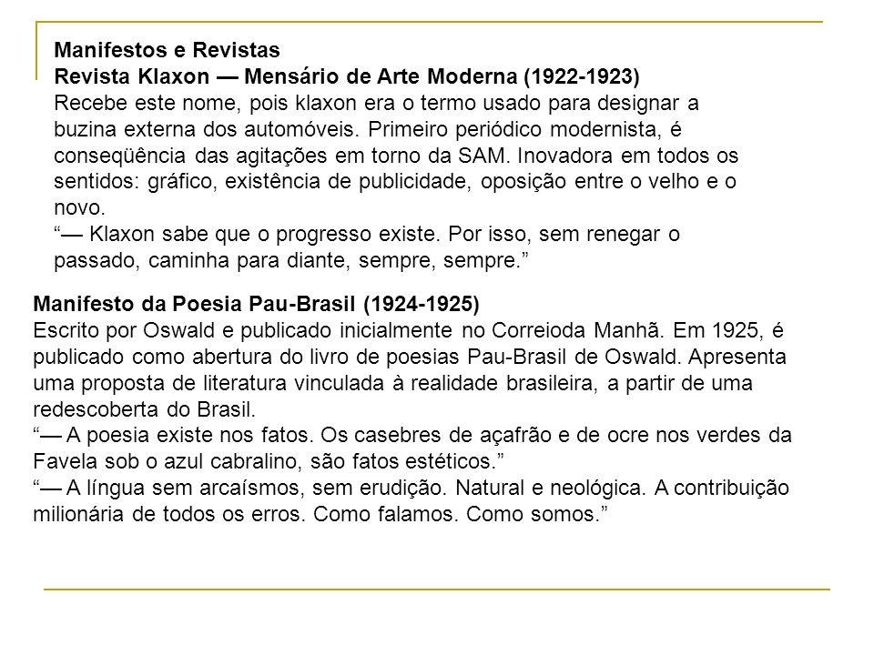 Manifestos e RevistasRevista Klaxon — Mensário de Arte Moderna (1922-1923)