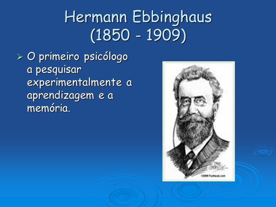 Hermann Ebbinghaus (1850 - 1909)