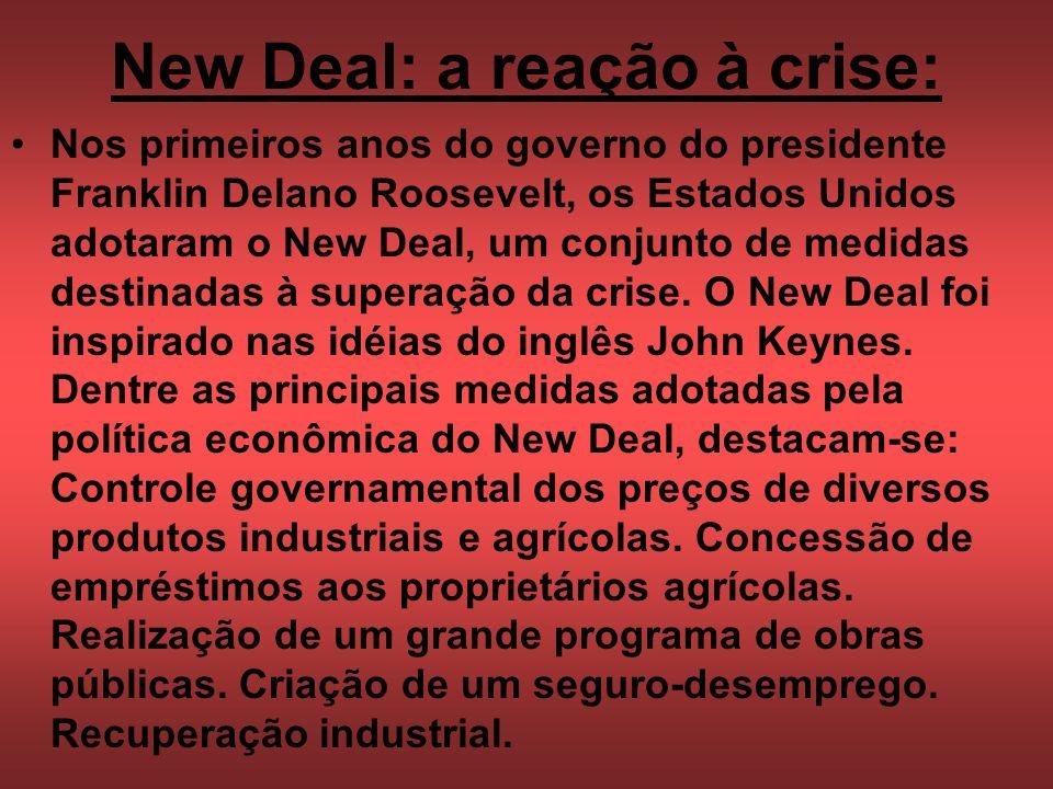 New Deal: a reação à crise: