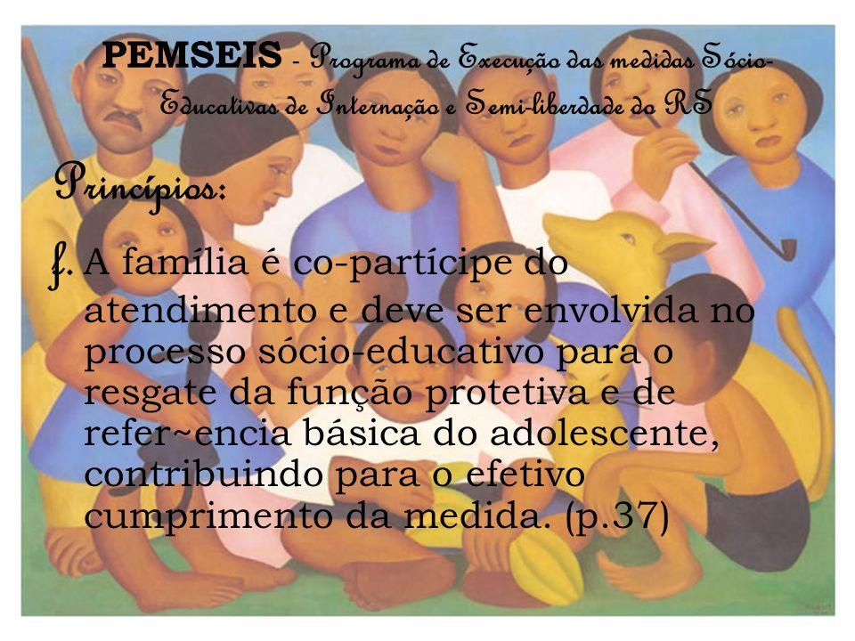 PEMSEIS - Programa de Execução das medidas Sócio-Educativas de Internação e Semi-liberdade do RS
