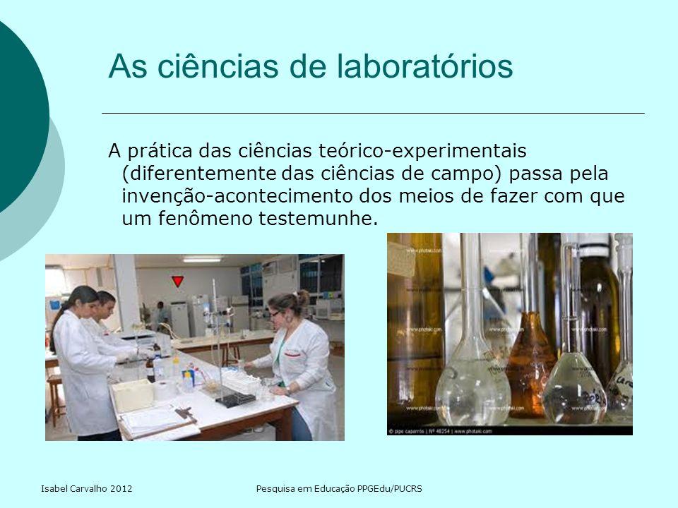 As ciências de laboratórios