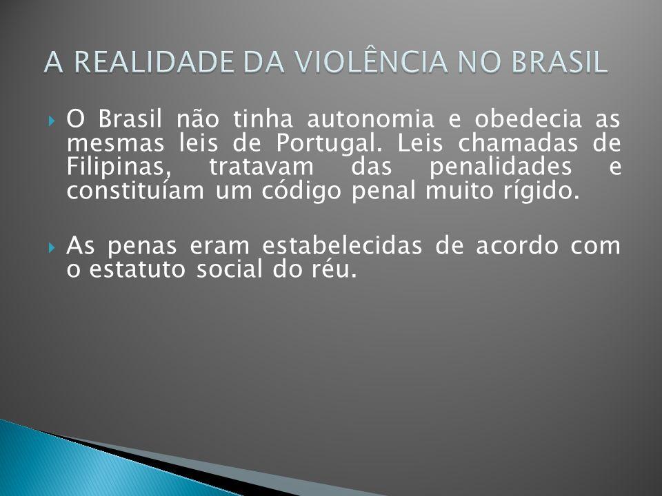A REALIDADE DA VIOLÊNCIA NO BRASIL
