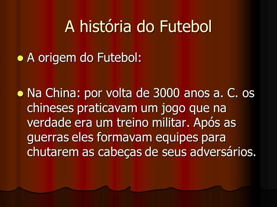 A história do Futebol A origem do Futebol: