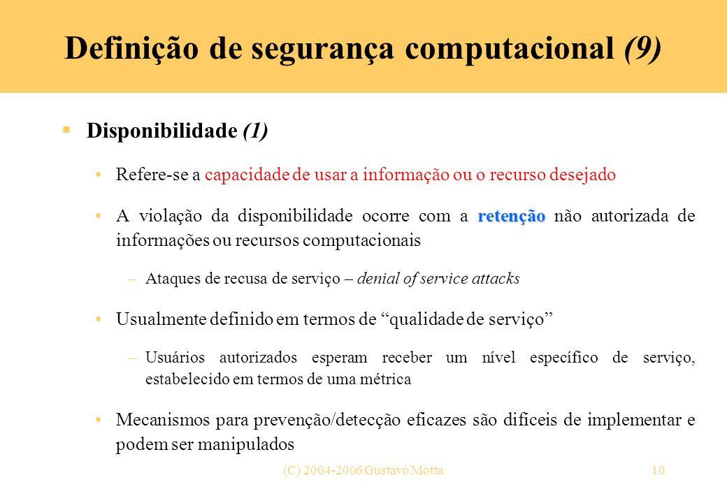 Definição de segurança computacional (9)