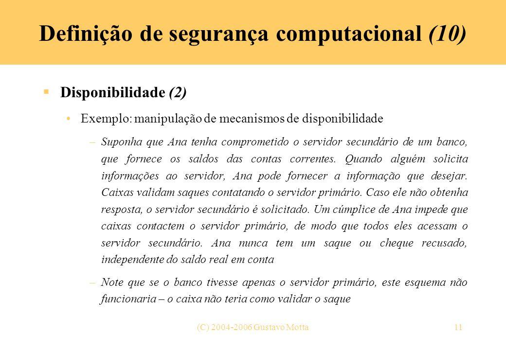 Definição de segurança computacional (10)
