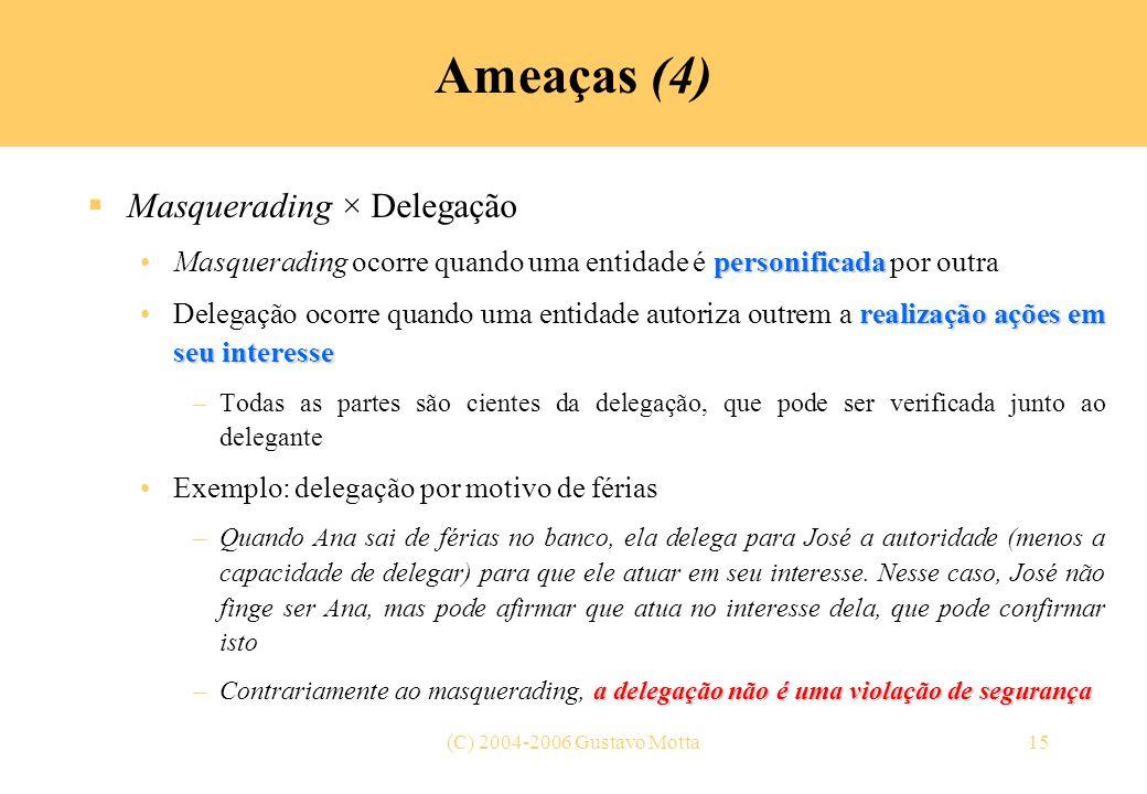 Ameaças (4) Masquerading × Delegação
