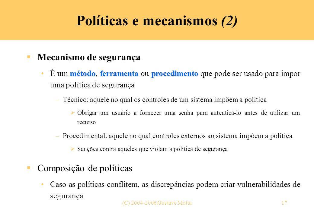Políticas e mecanismos (2)