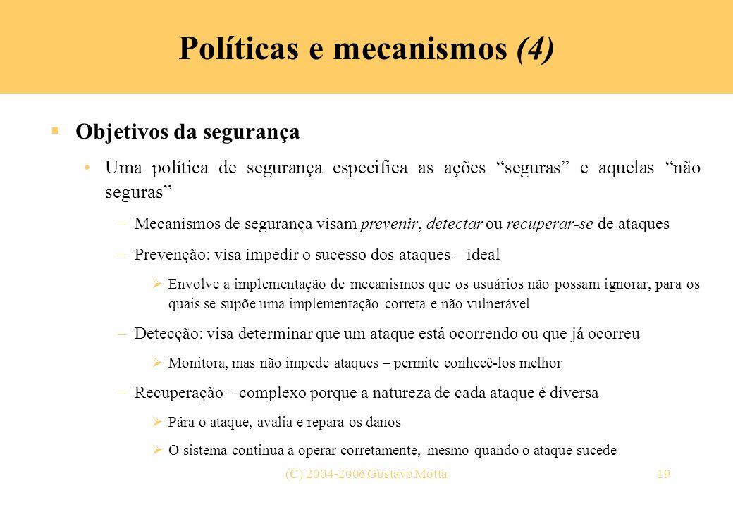 Políticas e mecanismos (4)