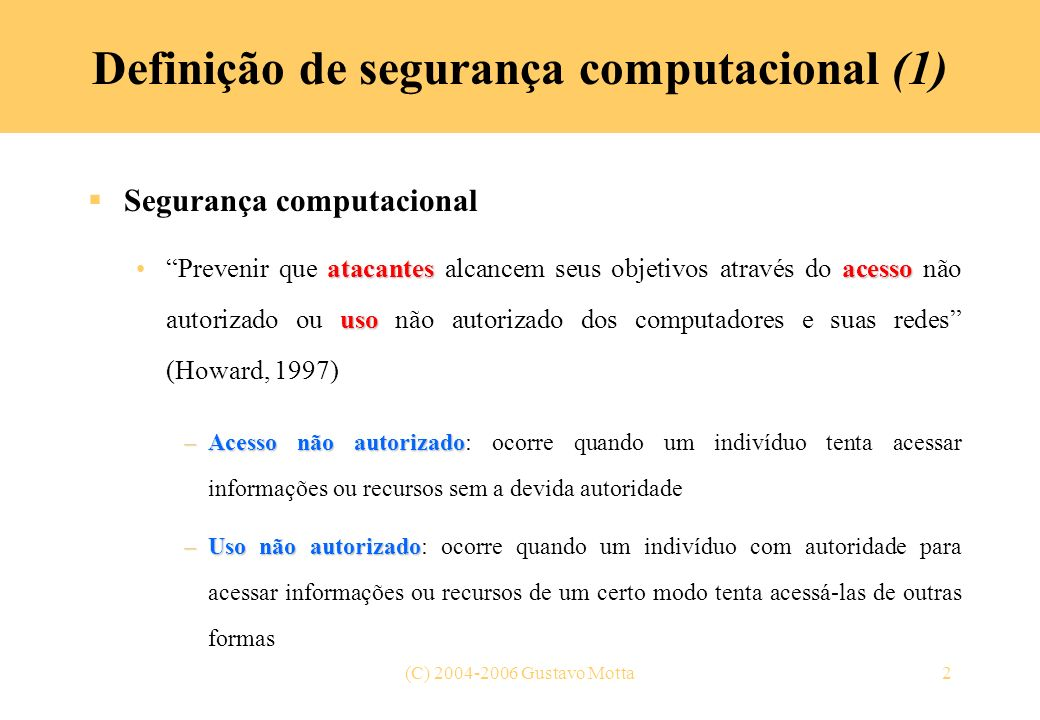 Definição de segurança computacional (1)