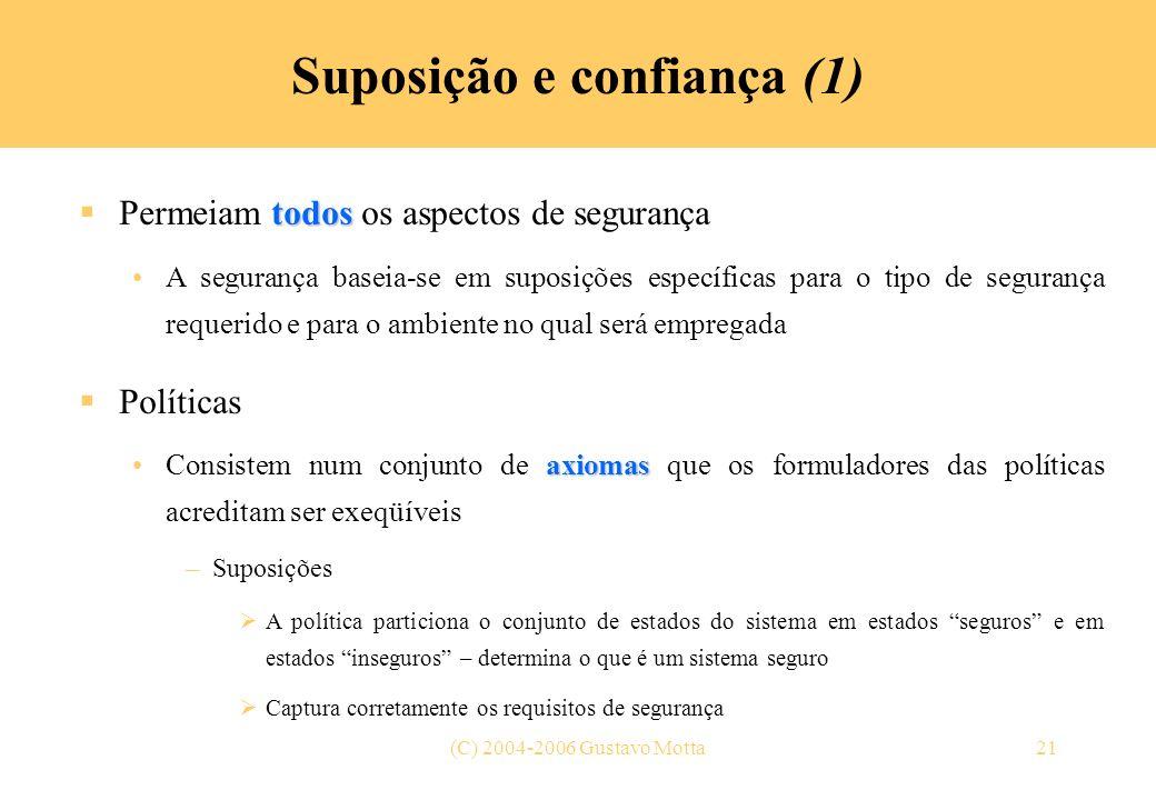 Suposição e confiança (1)