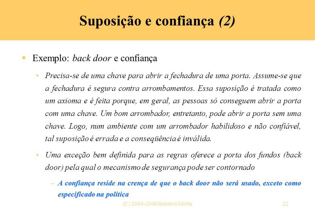 Suposição e confiança (2)