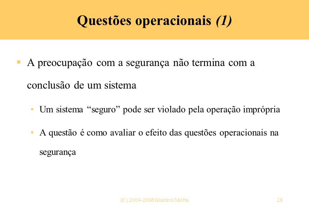 Questões operacionais (1)