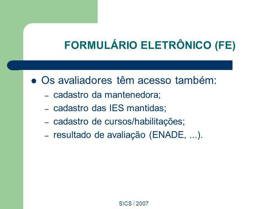 FORMULÁRIO ELETRÔNICO (FE)