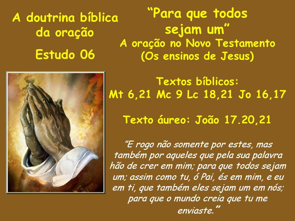 A oração no Novo Testamento